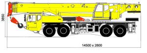 Автокран 90 тонн, размеры, ширина, высота