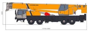 Кран 60 тонн, длина, высота