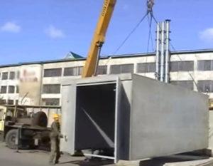 Автокран бетонный гараж